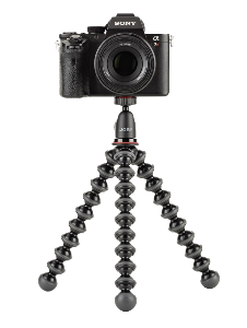 Flexible Tripod with Camera on top