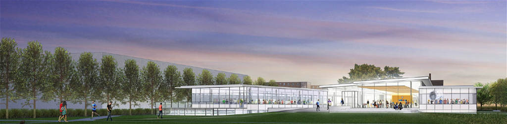 artist rendering of the new Siebel Design Center