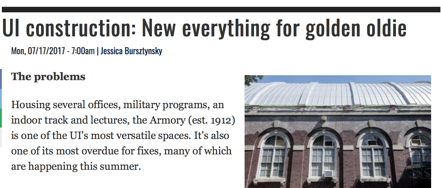 News Gazette Armory article