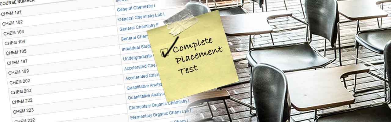 Reminder to complete your placement tests